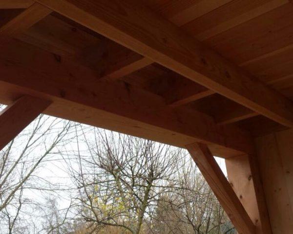 HVA Bouw Nunspeet - veranda gebinten vakwerk hout