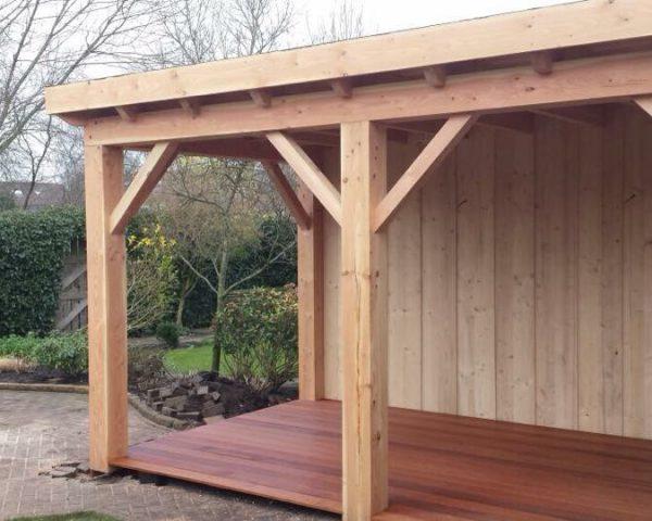 HVA Bouw Nunspeet - bouw veranda overkapping in de tuin